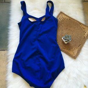 Vintage Swim - Vintage Blue One Piece Ruched Swimsuit